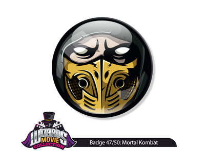 Movie concept 47/50: Mortal Kombat (1995) vectorart sticker badge pin illustrator adobe conceptual drawing scorpion illustration kombat mortal