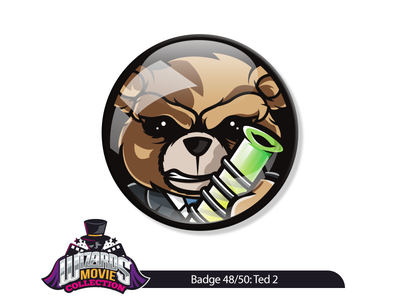 Movie 48/50: Ted 2 (2015) design graphic art vector sticker pin badge illustration ted
