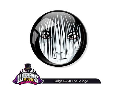 Movie 49/50: The Grudge (2004) pin sticker illustratorvecotr design graphic collection movie illustration horror grudge the