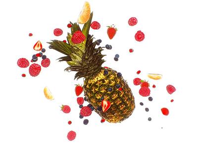 Fruits vray 3d design anim motion-design