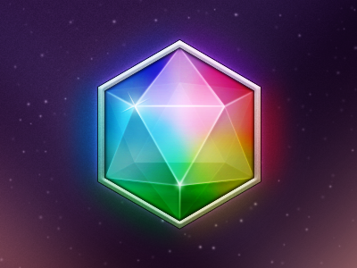 Einhorn (free PSD) crystal rainbow einhorn