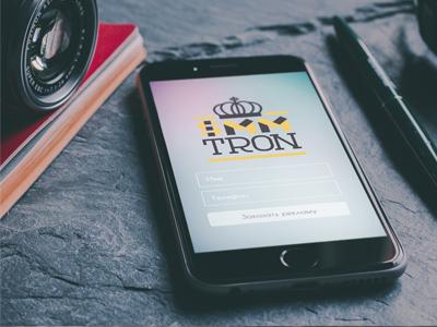 SmmTron logo & login screen weekend iphone sign in signin login mockup logo