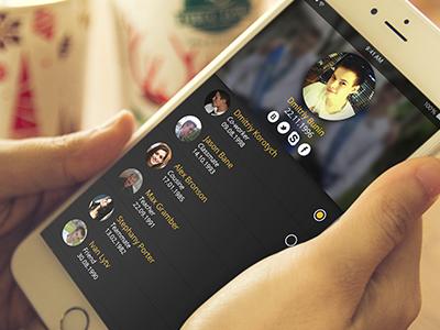 UI / UX concept for birthday dates remember photoshop black ios design interface concept app ux ui iphone