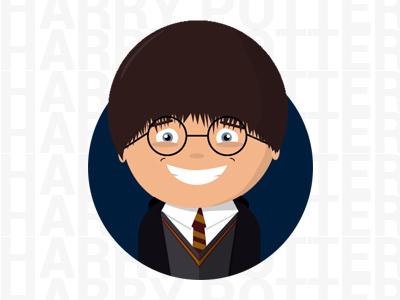 Harry Potter  natural boy magic film character flat harry potter
