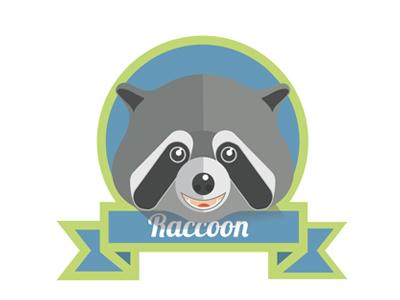 Racoon racoon illustration flat animal