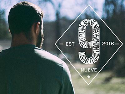 Logo for Nueve - clothing co. based in England logo design beard design logo calligraphy brushpen brush composition typography handlettering lettering