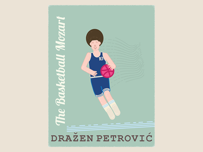 Hello to all! :) basketball mozart drazen petrovic debuts flat illustration basketball photoshop illustrator