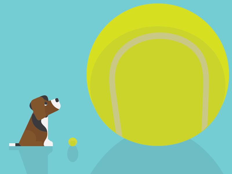 Puppy :) illustrator flat puppy