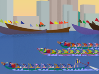 Closejunedragonboatfestivaldribbble