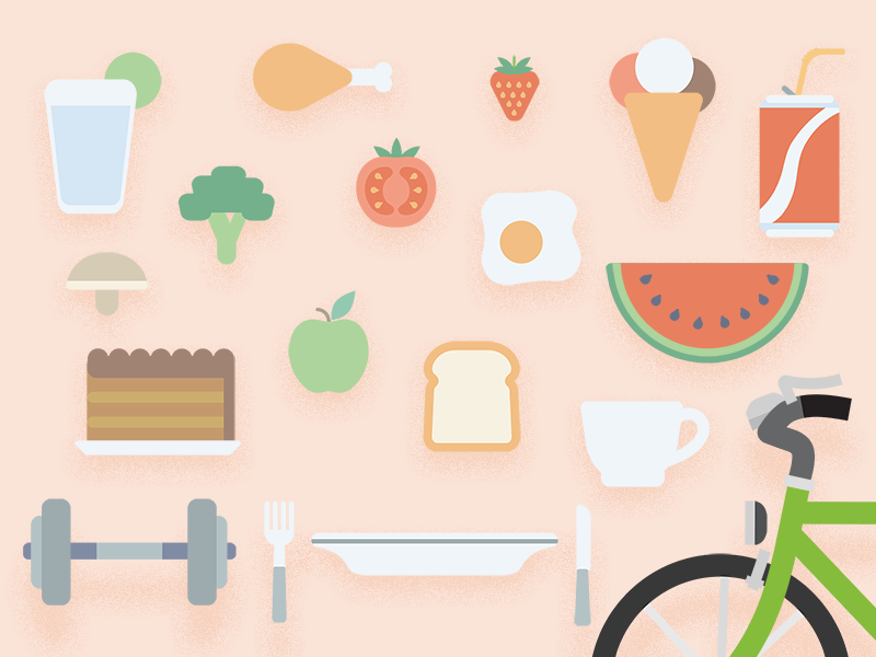 Nutrition simple adobe illustrator 2d flat nutrition
