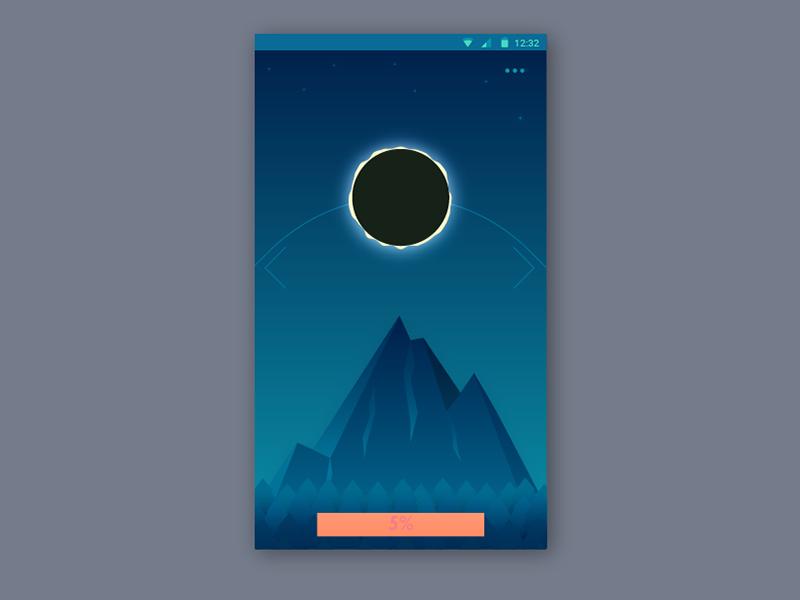 Solar Eclipse as progress in app adobe illustrator ui progress eclipse solar