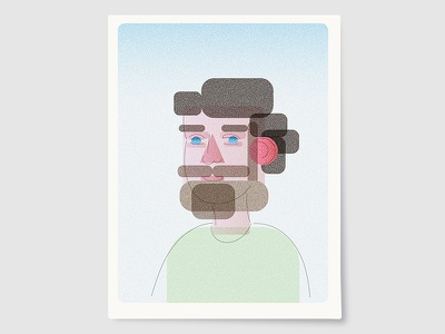Me 4 21 11 selfportrait aquatint illustration adobe illustrator flat