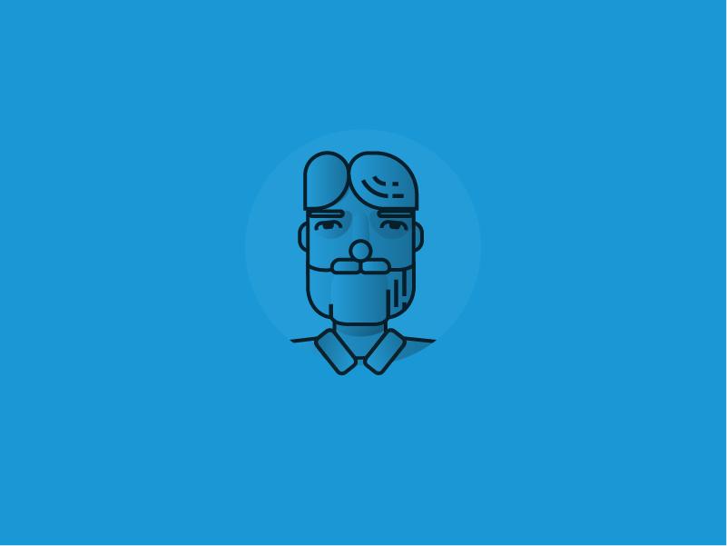 Me on my blues illustration 2d adobe illustrator flat