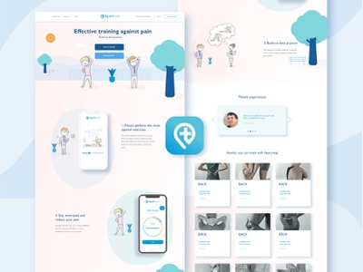 Health App Web Design and Logo Icon branding design ui logo illustration adobe illustrator