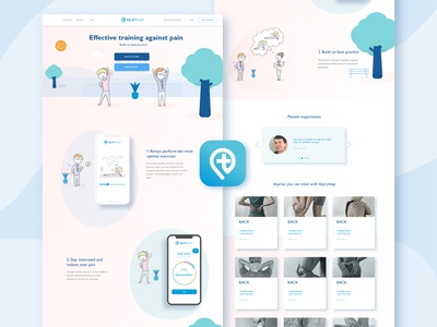 Health App Web Design and Logo Icon