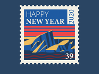 Iceberg - Happy New Year ice nature earth iceberg stamp vector adobe illustrator illustration