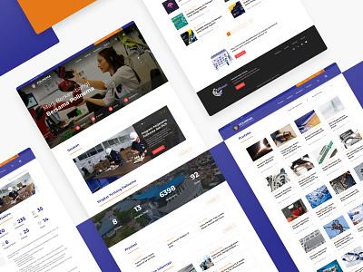 Web Design of Polinema web development interaction design interactions uxdesign branding company profile website design web design website web design ui uidesign ux