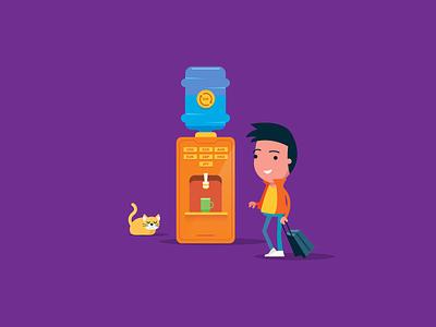 Jenius Key Visual ui graphic design animation branding illustration