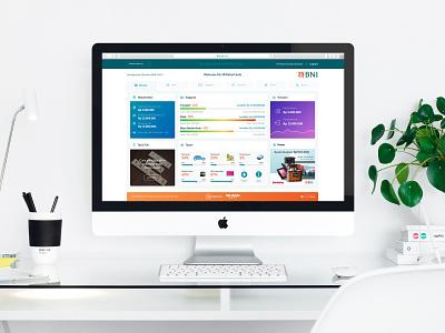 User Dashboard of BNI Internet Banking dashboard ui ux