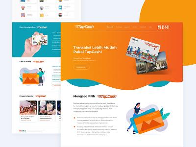 TapCash Landing Page flat ux branding web uxdesign uidesign design ui