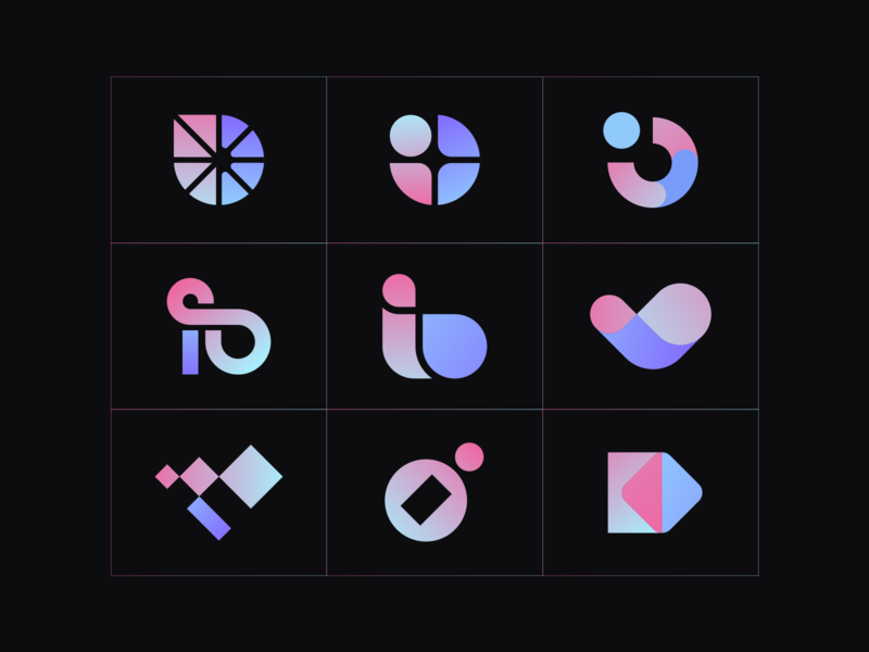 I+O Logo concepts modern infinity thumbs up connection o i design clever abstract simple lines brand identity symbol mark logo