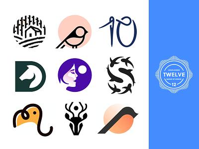 LogoLounge12 design clever simple identity logo design colorful number letter brand animal collection book logolounge symbol mark logo