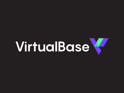 Virtual Base Logo Design baseline clever simple lines brand identity symbol mark technology tech reality augmented logodesign logo base virutal