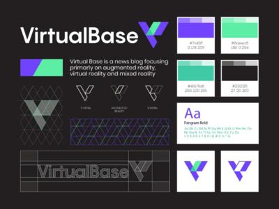 Virtual Base Logo Design initial b v technology tech augmented reality branding brand symbol identity mark design logo base virtual
