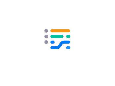 List Logo Design rows listen to do application app lists ui simple branding clever lines brand identity symbol mark logo list
