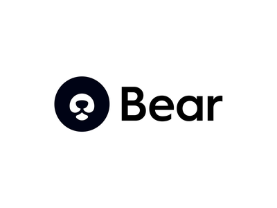 Bear Logo minimalistic minimal bear design animal clever abstract simple lines brand identity symbol mark logo