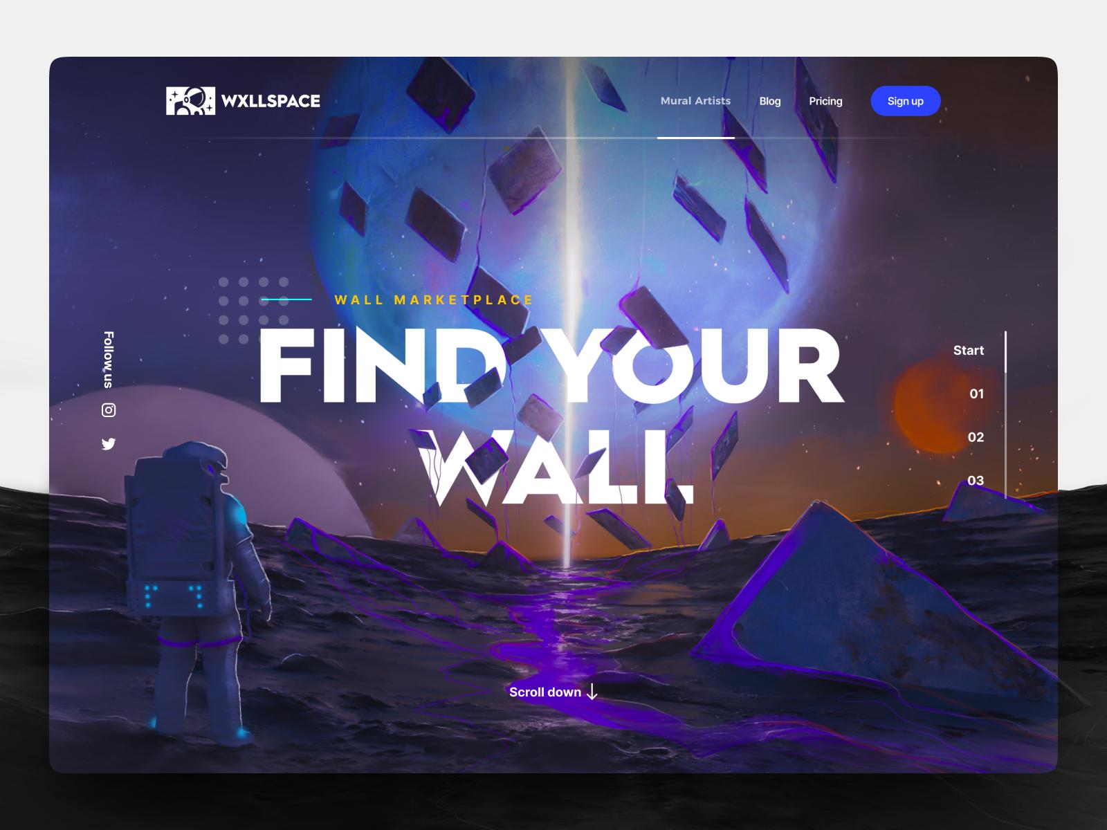 WxllSpace Landing Page & Illustration