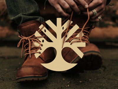 Timberland Redesign Concept concept redesign concept redesign tree snowflake shoes boots timberland initial branding design simple lines brand identity symbol mark logo
