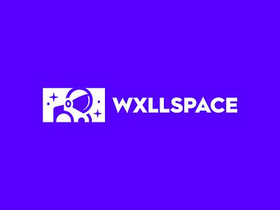 WxllSpace - Branding, Identity & Logo Design unique modern logo mark minimal idenity brand design designs branding strong symbol astronaut galaxy stars bold wall arto painting artist