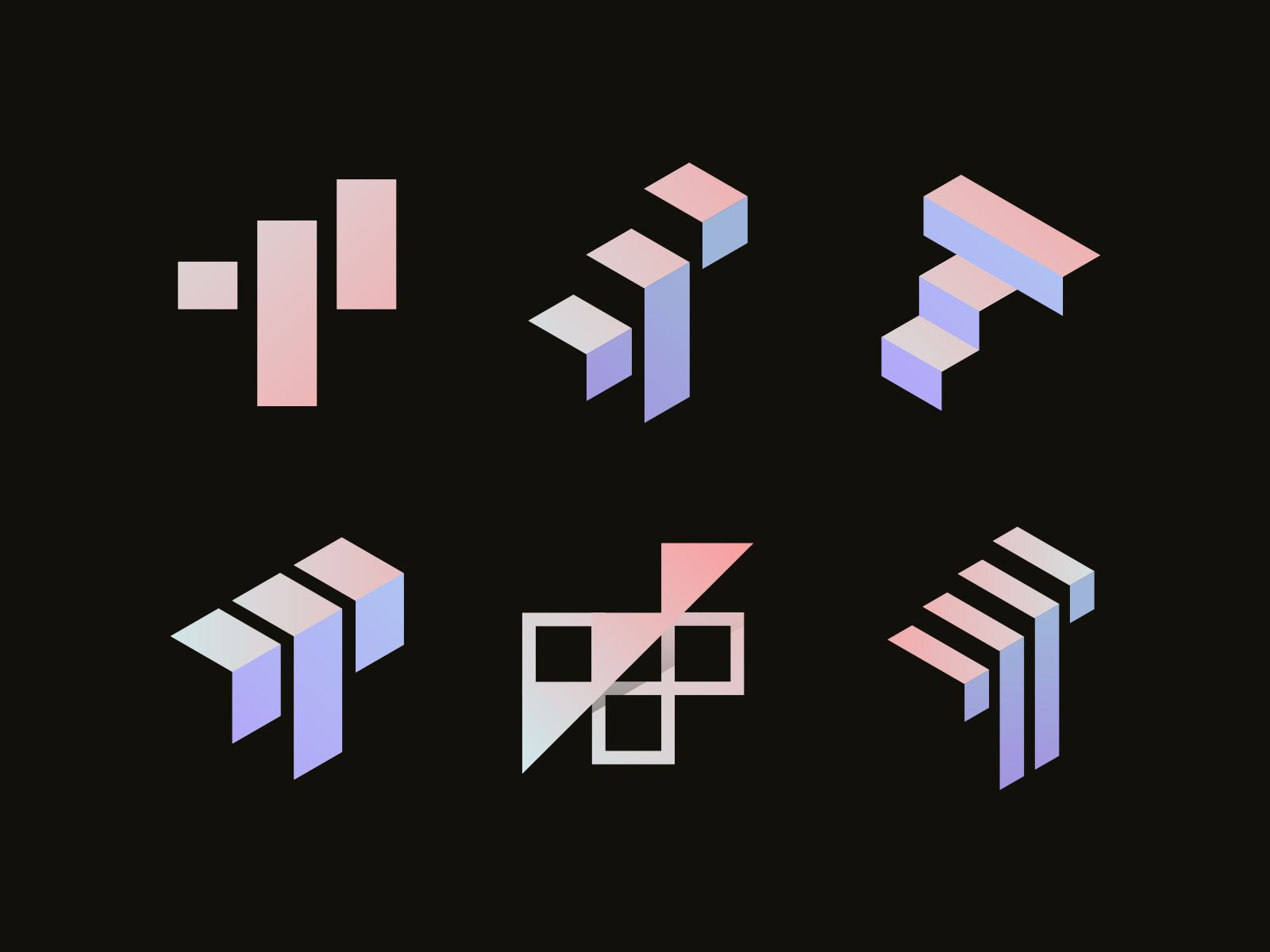 T, Stairs, Success, Up Logo Concepts