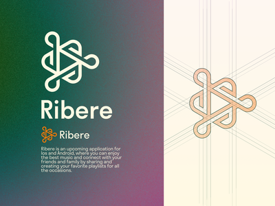 Ribere Logo Design - Music Application / Play Button concept sophisticated abstract idea artist art application digital music button play play button design simple lines brand identity symbol mark logo