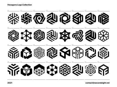 Hexagons Logo Collection graphic design moving bold branding best concepts collection abstract hexagon lines design simple brand identity symbol mark logo