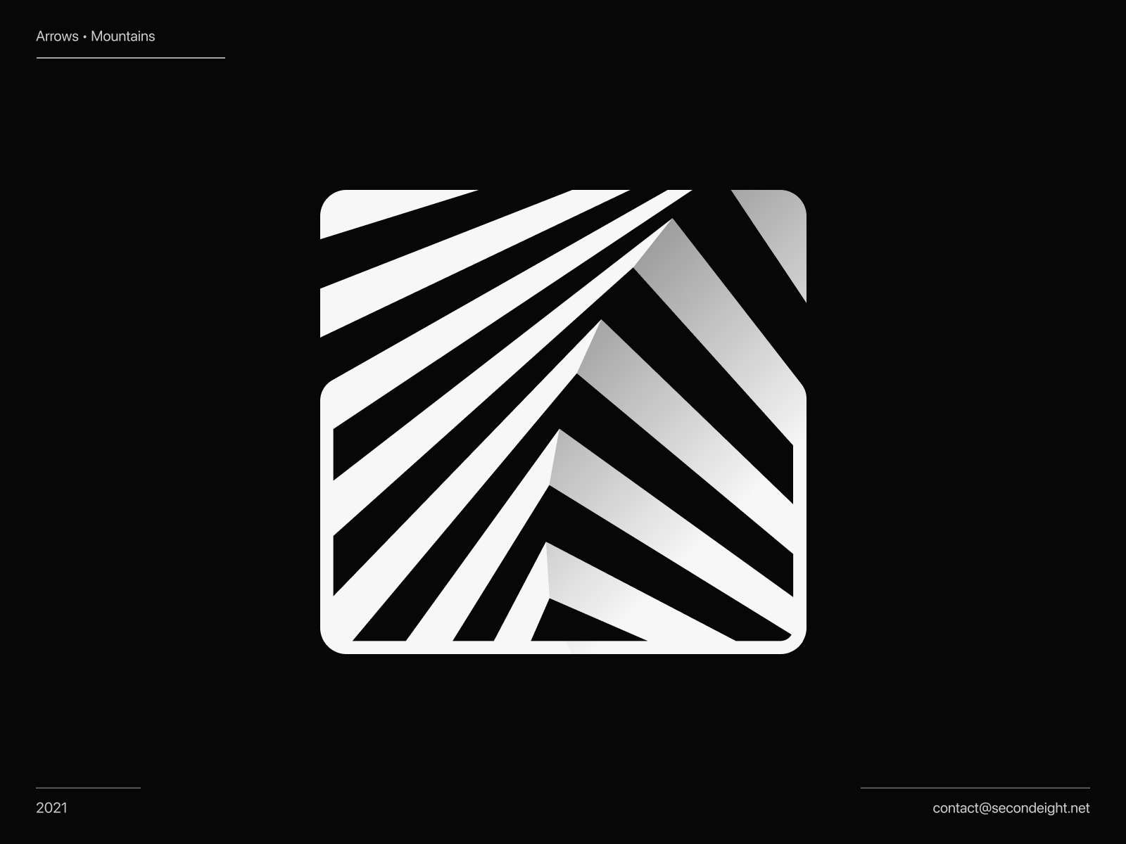 Abstract symbol / Arrows / Mountains