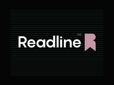 Readline Logo Design ui illustration branding strong initial bookmark store online reading book r design simple lines brand identity symbol mark logo