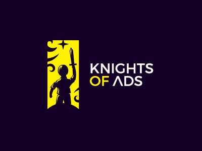 Knights Of ads illustration symbol mark warrior man kid boy star sword logo ads knight