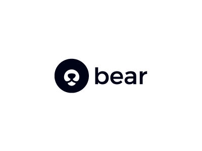 Bear animal brand identity symbol logo minimal simple bear