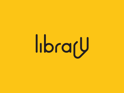 Library connection smart brand identity symbol mark logotype books book logo library