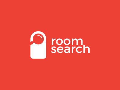 Room search / Hotel / booking glass magnifying clever mark search icon symbol logo booking hotel search room