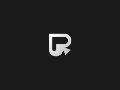 P for Poker gradient spades poker brand identity symbol mark initial logo p