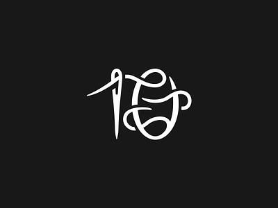 10Threadz abstract identity symbol elegant mark logo needle thread 10