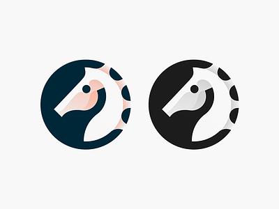 Seahorse mark illustration head horse seahorse animal simple brand identity symbol mark logo