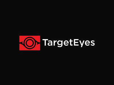 TargetEyes illustration abstract eyes target simple lines brand identity symbol mark logo