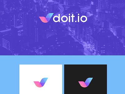 Doit task check mark check illustration lines abstract brand identity symbol mark logo