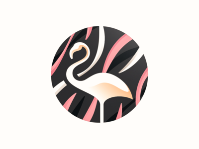 Flamingo flamingo design bird illustration animal abstract simple lines brand identity symbol mark logo