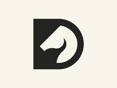 D / Horse horse logo horse initial d branding clever animal simple lines brand identity symbol mark logo