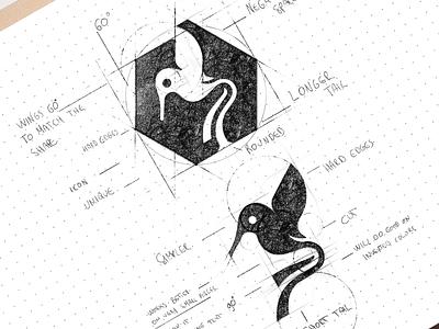 Bird mark smart elegant branding design bird animal lines brand identity symbol mark logo
